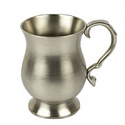 Curved Pewter Tankard