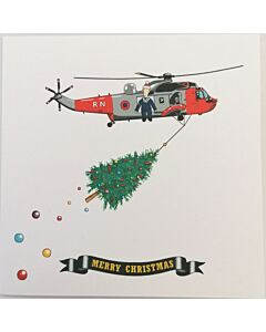 Ernie's Helicopter Christmas Card