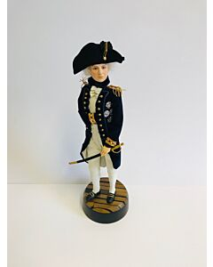 Lord Nelson Figurine On Victory Wood Base