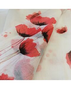 Summer White Poppy Scarf