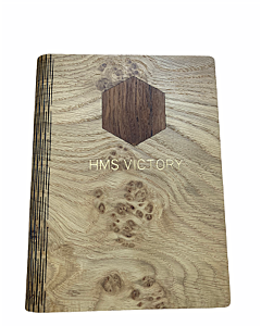 HMS Victory Wooden Notebook Journal - With HMS Victory Wood Insert