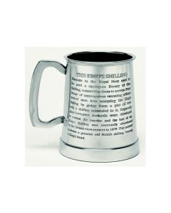 Kings Shilling Pewter Tankard