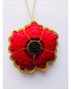 Poppy 1914-1918 Hand- Made Hanging Decoration