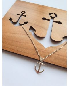Anchor Pendant On Wooden Card