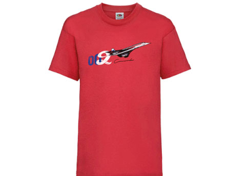 Kids Concorde T-Shirt  - Red