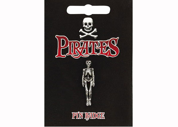 Pirate Skeleton Pin Badge